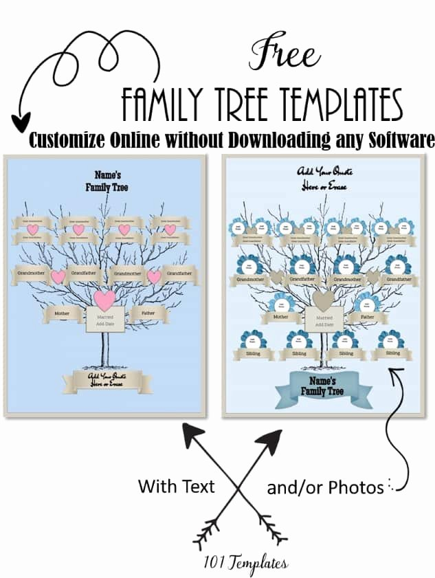 Editable Family Tree Template Awesome Free Editable Family Tree Maker Templates