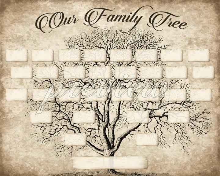 Editable Family Tree Template Elegant Custom Family Tree Printable 5 Generation Template Instant