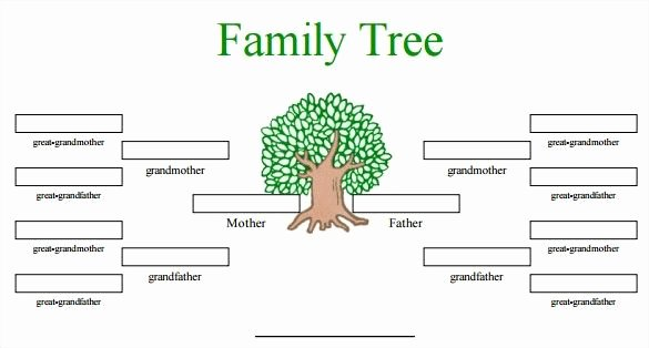 Editable Family Tree Template Luxury Free Family Tree Template Word Editable Family Tree Free