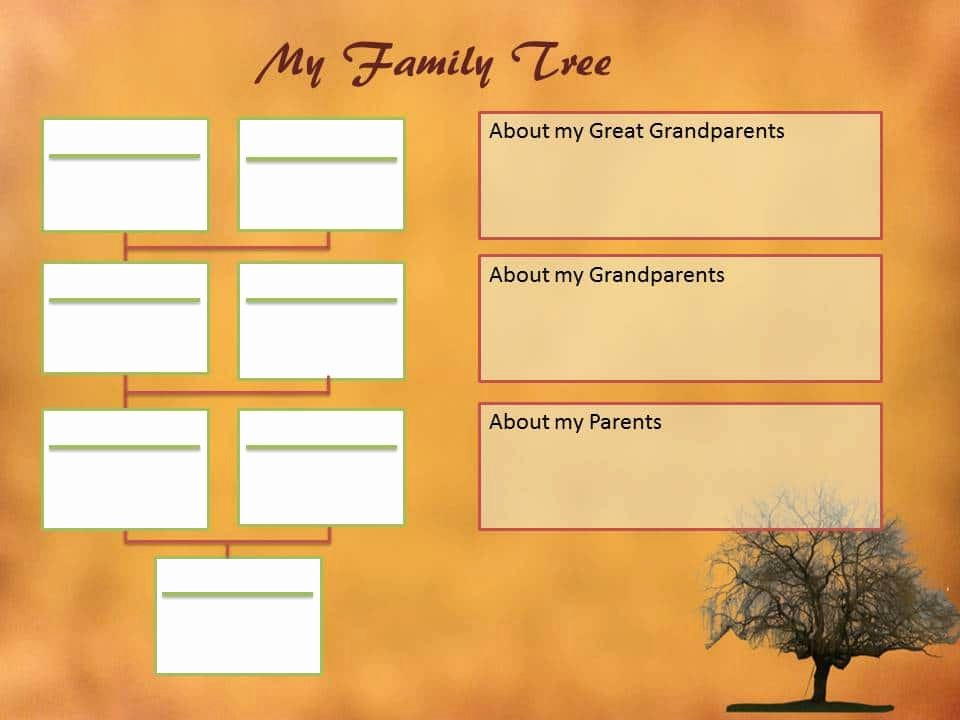 Editable Family Tree Templates Awesome Downloadable My Family Tree Templates