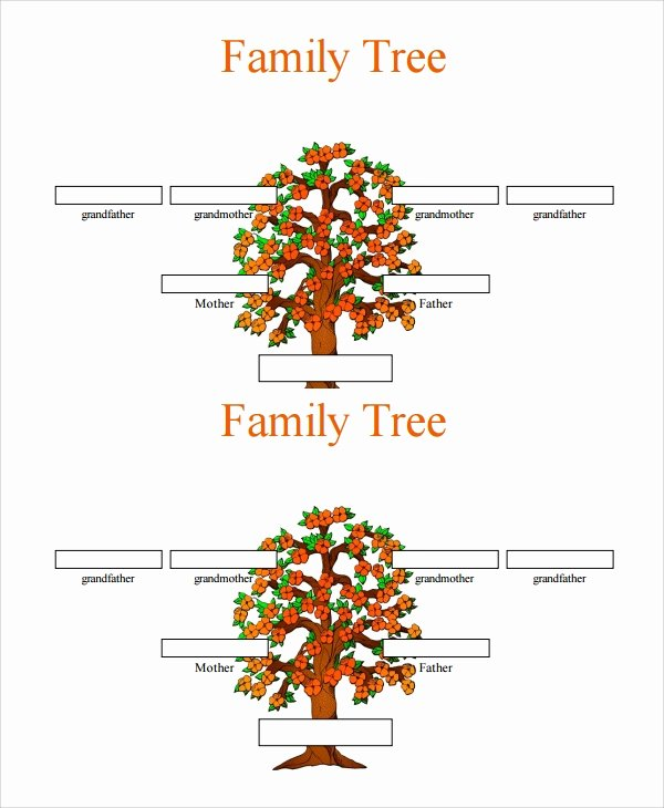 Editable Family Tree Templates Awesome Sample 3 Generation Family Tree Template 6 Documents In