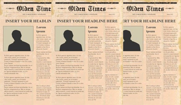 Editable Old Newspaper Template Awesome Newspaper Headline Template 12 Free Word Ppt Psd Eps