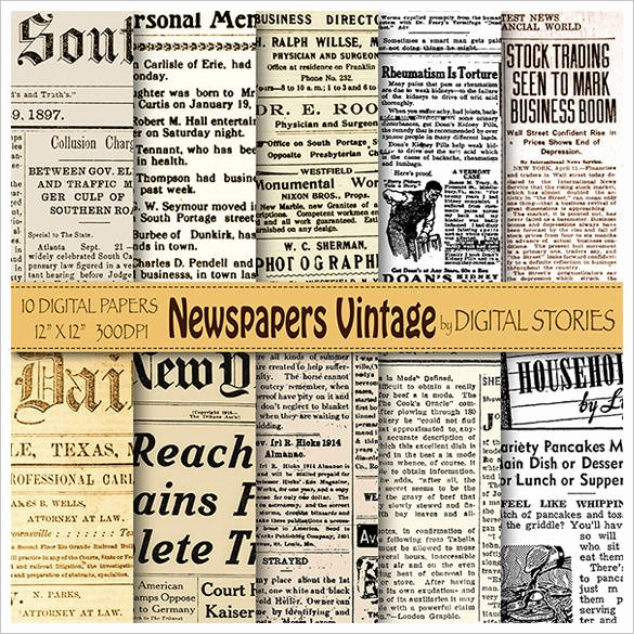 Editable Old Newspaper Template Awesome Old Newspaper Template