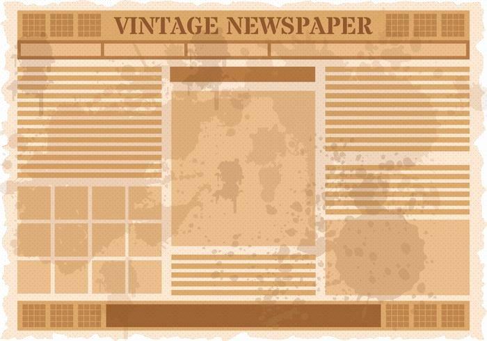 Editable Old Newspaper Template Best Of Vintage Old Newspaper Vector Download Free Vector Art