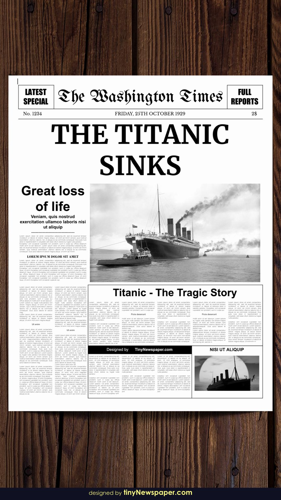 Editable Old Newspaper Template Inspirational Editable Newspaper Template Google Docs