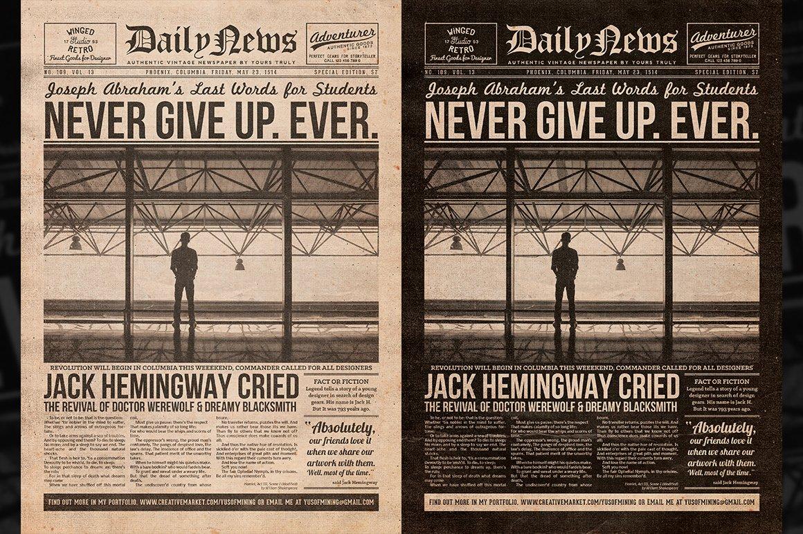 Editable Old Newspaper Template Lovely Vintage Newspaper Flyer Template Flyer Templates On
