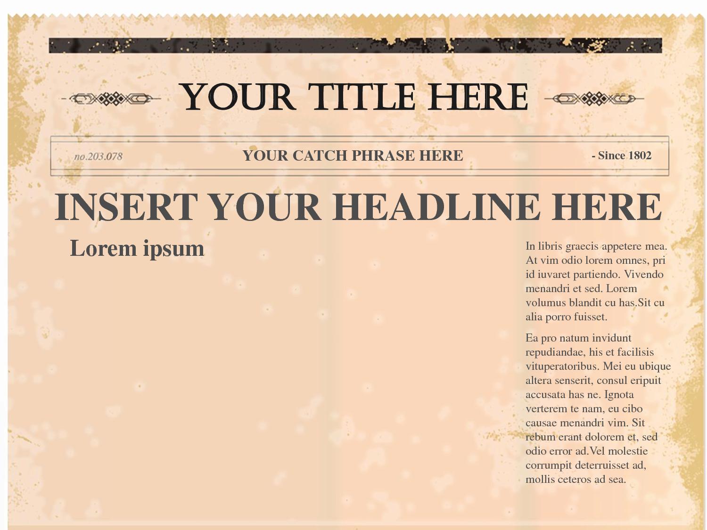 Editable Old Newspaper Template Luxury Free Newspaper Template