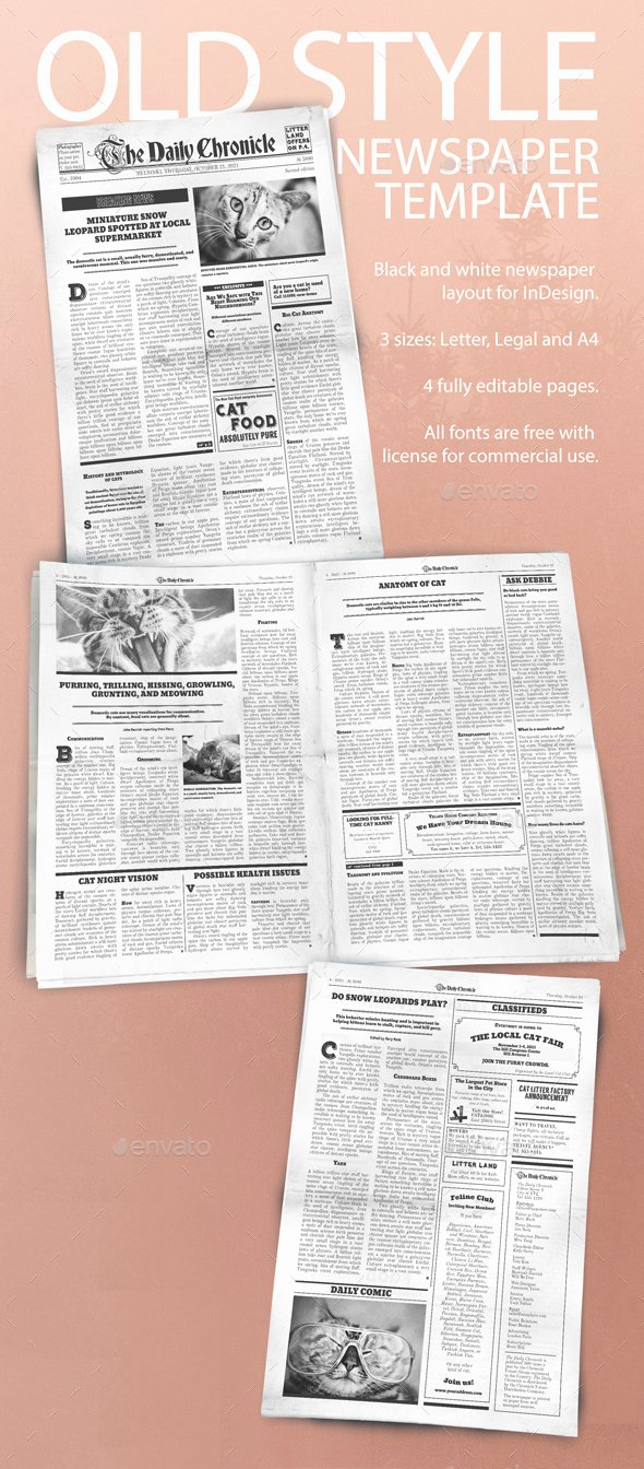 Editable Old Newspaper Template New 50 Hq Newspaper Mockups and Templates 2018 Psd Indesign
