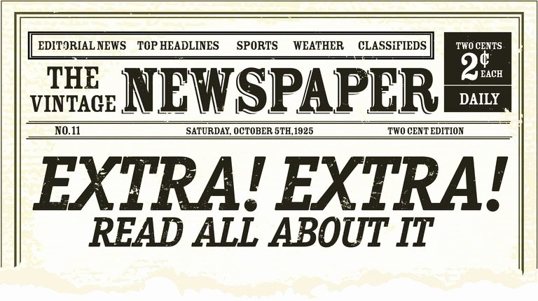 Editable Old Newspaper Template New Definition and Examples Of Headlinese