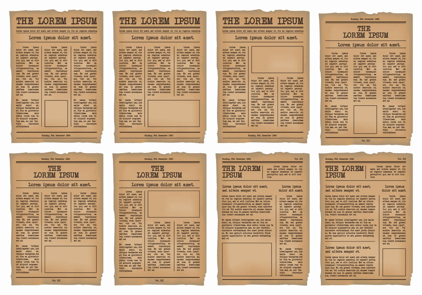 Editable Old Newspaper Template Unique Old Newspaper Template Vector Set Download Free Vectors