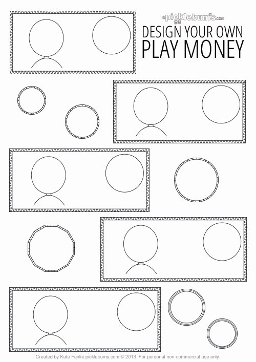 Editable Play Money Template Awesome Banish Boredom On Road Trips with Kids