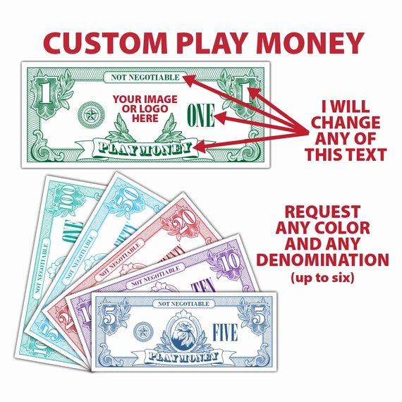 Editable Play Money Template Awesome Custom Play Money Money Fake Money Pretend Money Teachers