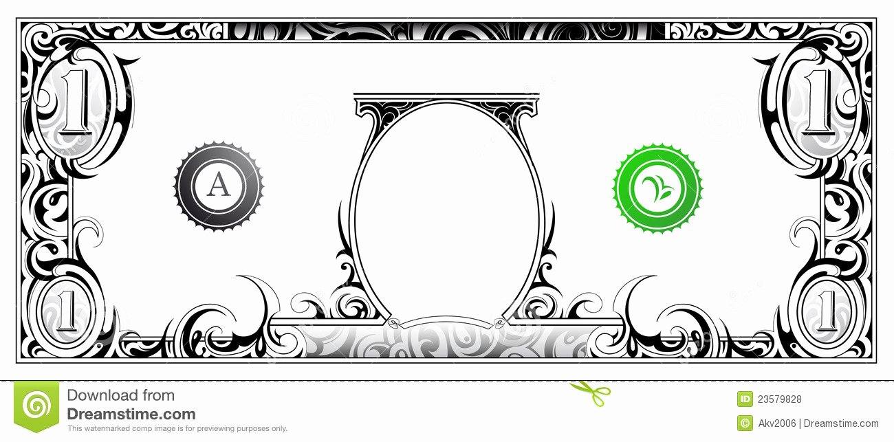 Editable Play Money Template Awesome Dollar Bill Stock Vector Illustration Of Graphic Artwork