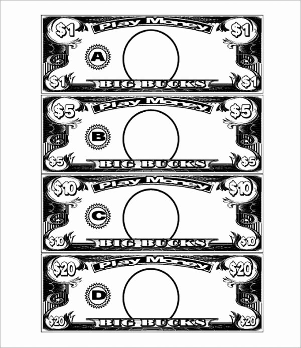 Editable Play Money Template Beautiful Play Money Template Party