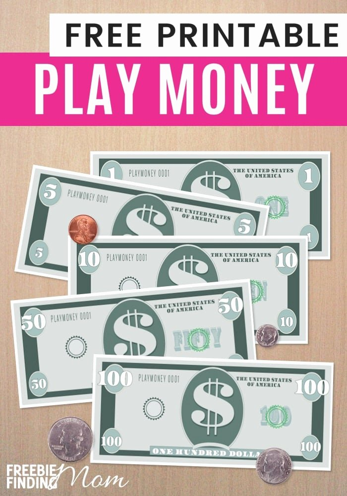 Editable Play Money Template Best Of Free Printable Play Money Template