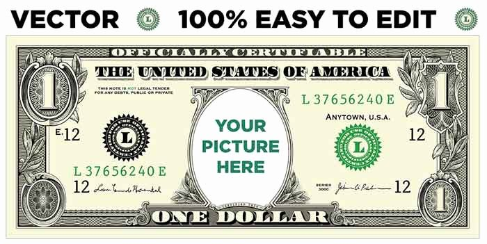 Editable Play Money Template Best Of How to Create A Personalized Dollar Bill Snap Vectors