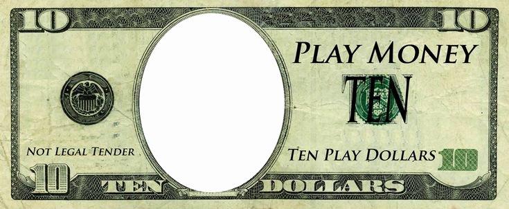 Editable Play Money Template Elegant Play Money Template Play Money Templates