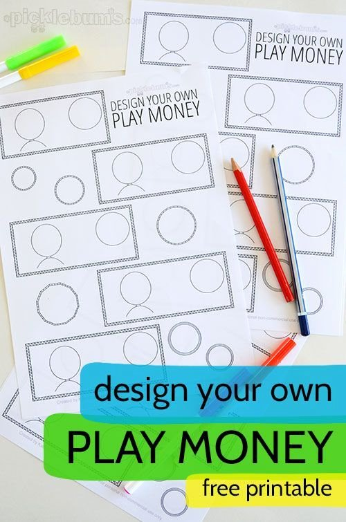 Editable Play Money Template Fresh Design Your Own Printable Play Money