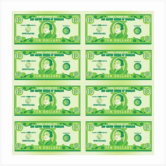 Editable Play Money Template Fresh Editable Play Money Template