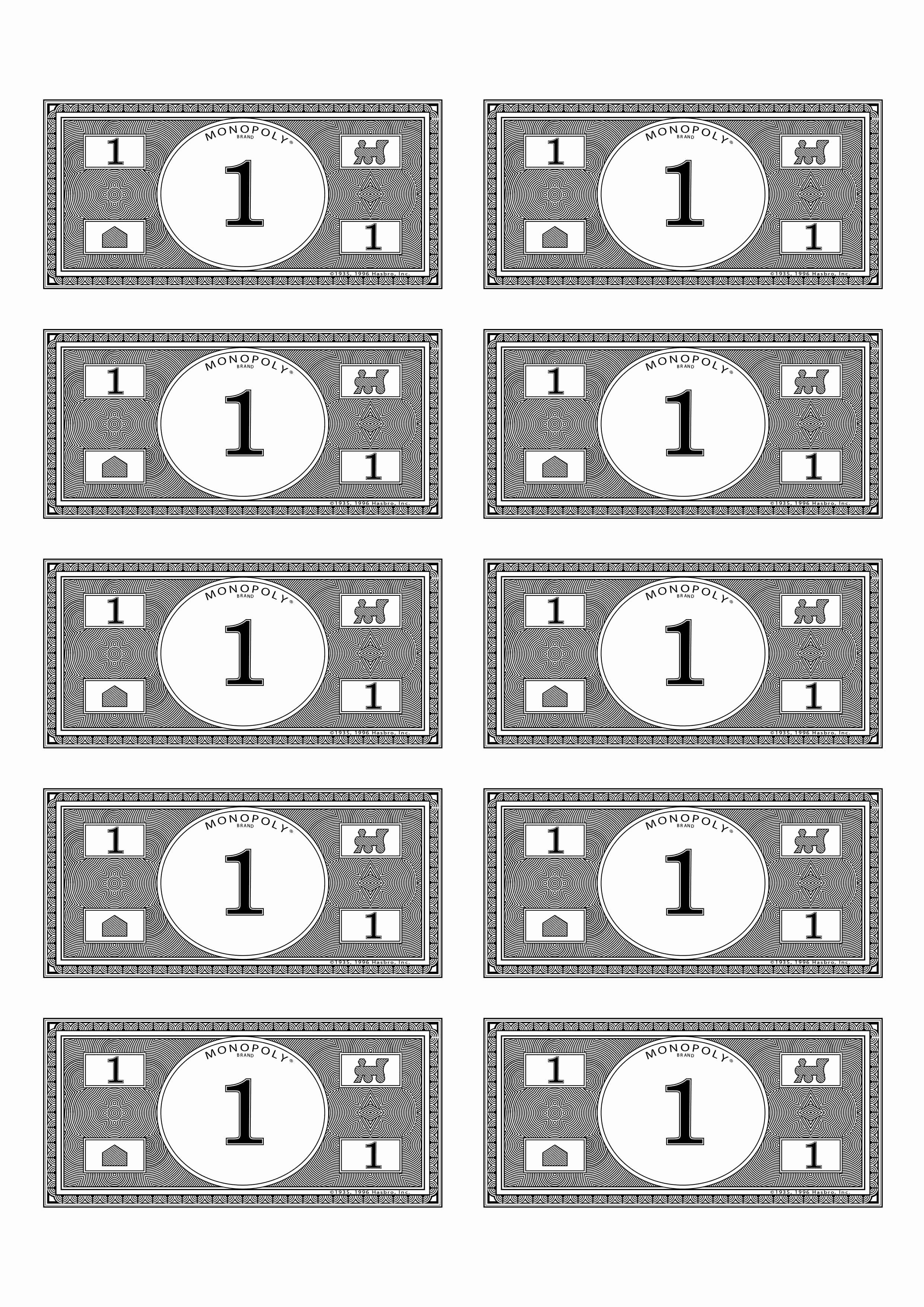 Editable Play Money Template Fresh Monopoly Money 1 Bud $