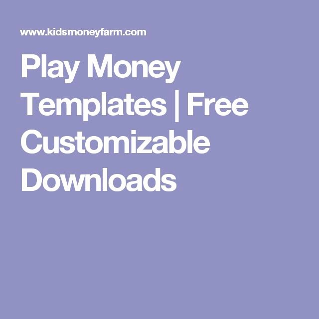 Editable Play Money Template Inspirational 8 Best Images About Rewards On Pinterest