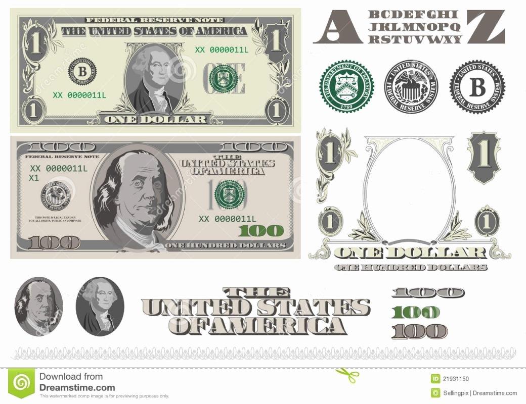 Editable Play Money Template Inspirational Editable Play Money Template