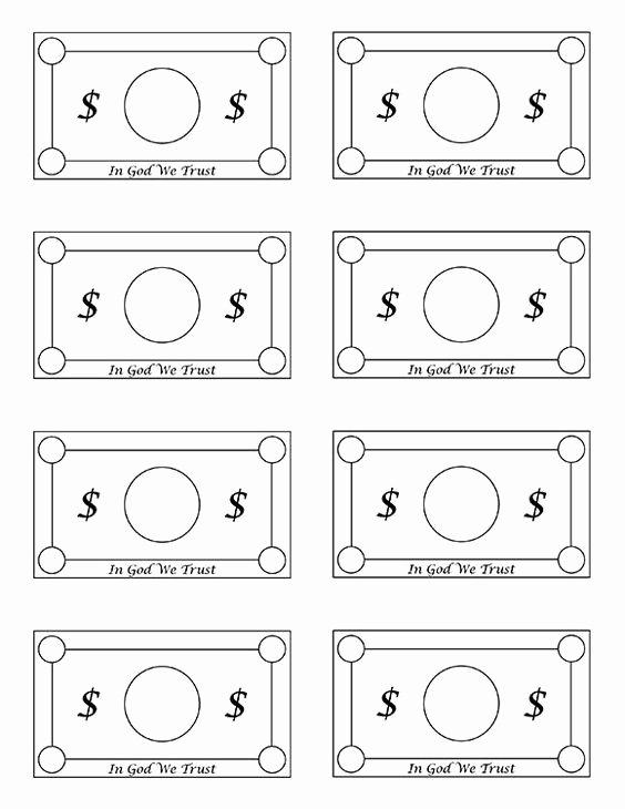 Editable Play Money Template Lovely Free Printable Play Money