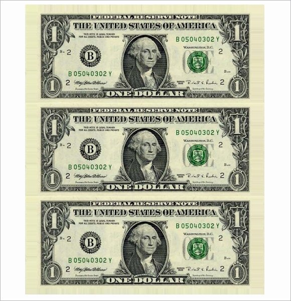 Editable Play Money Template Luxury 9 attractive Sample Play Money Templates to Download