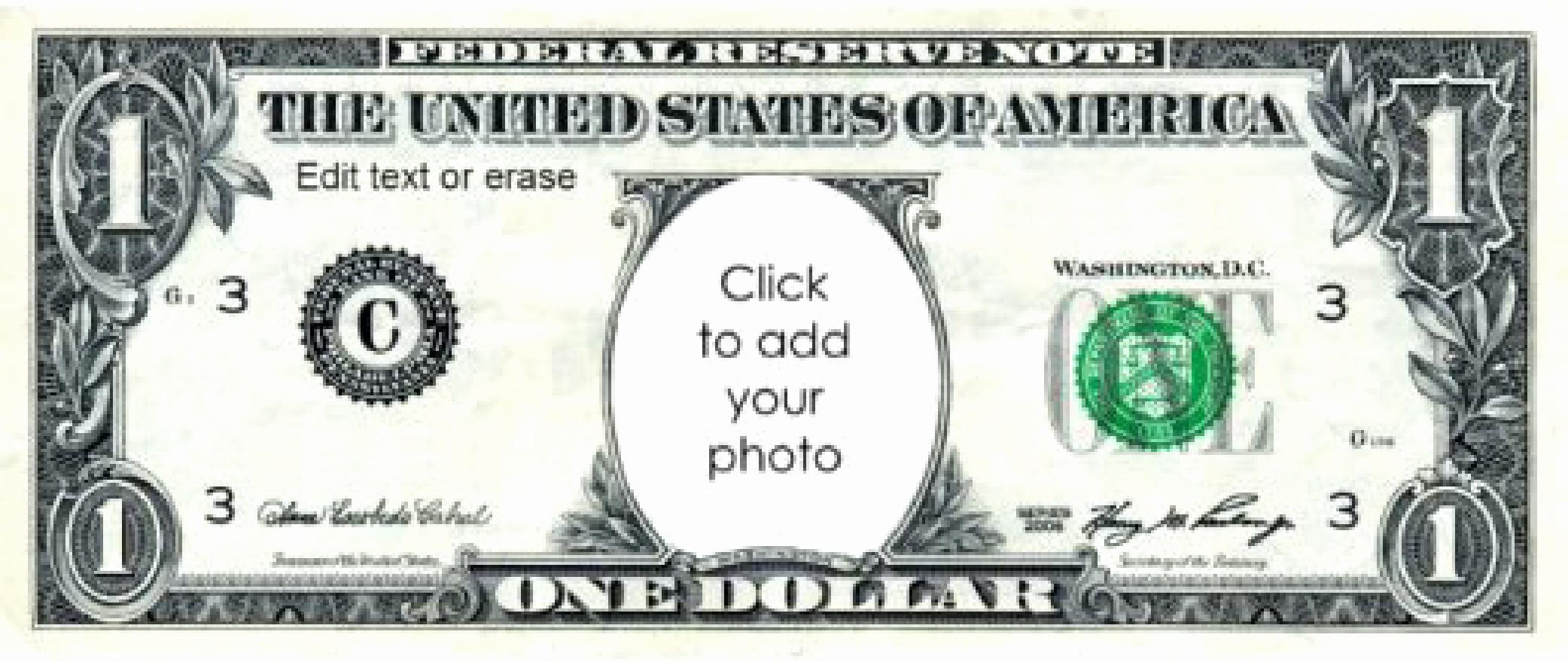 Editable Play Money Template New Play Money 1 Dollar