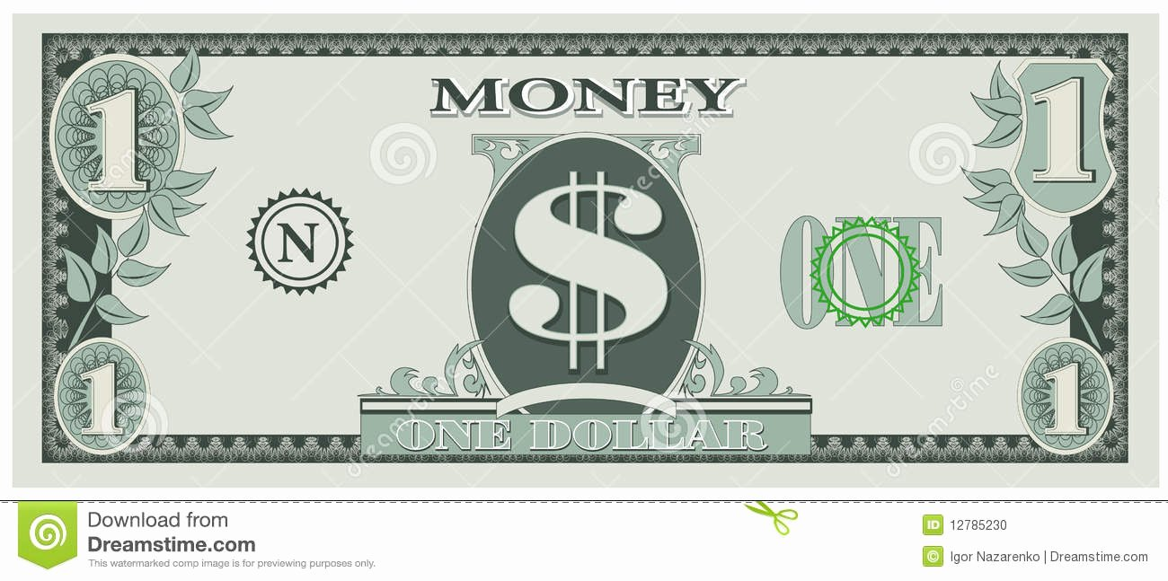 Editable Play Money Template Unique Editable Play Money Template