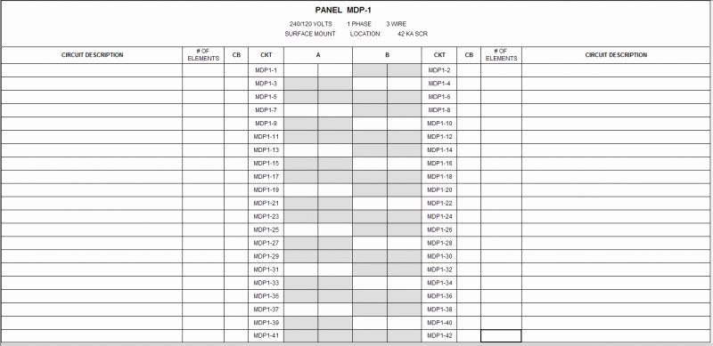 Electric Panel Schedule Template Luxury Single Phase Panel Schedule issue Revit Mep Autocad forums