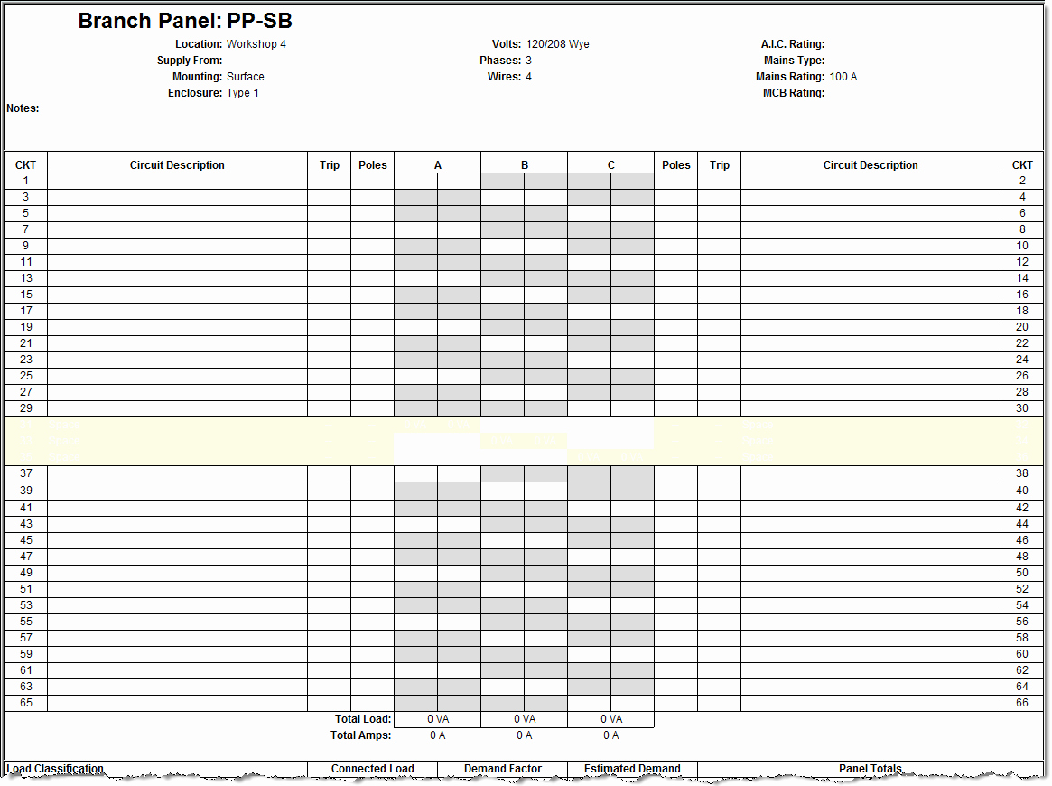 Electric Panel Schedule Template New Revit Electrical Panel Schedule Configuration Information