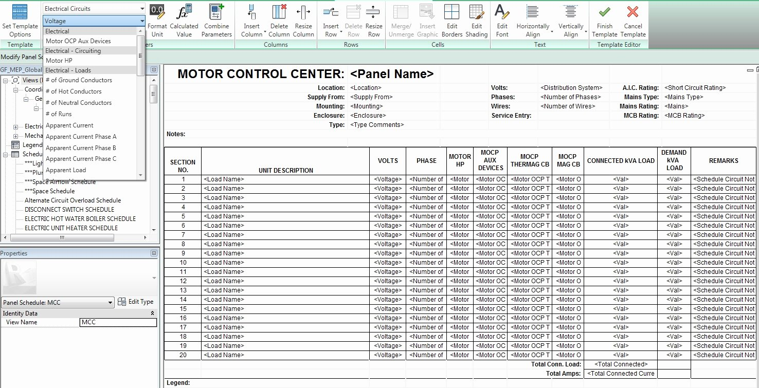Electric Panel Schedule Template New the Mep Bim Cad Engineer Tips On Creating Panel Schedule
