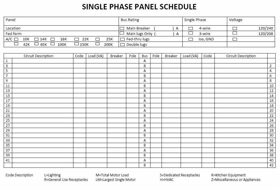 Electrical Panel Directory Template Elegant 5 Free Panel Schedule Templates In Ms Word and Ms Excel