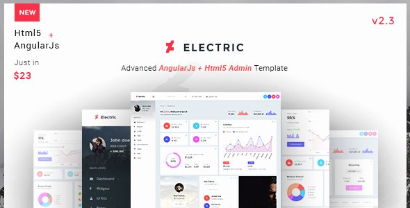 Electrical Panel Directory Template Fresh Electric Admin Panel Dashboard Angular Js Template by