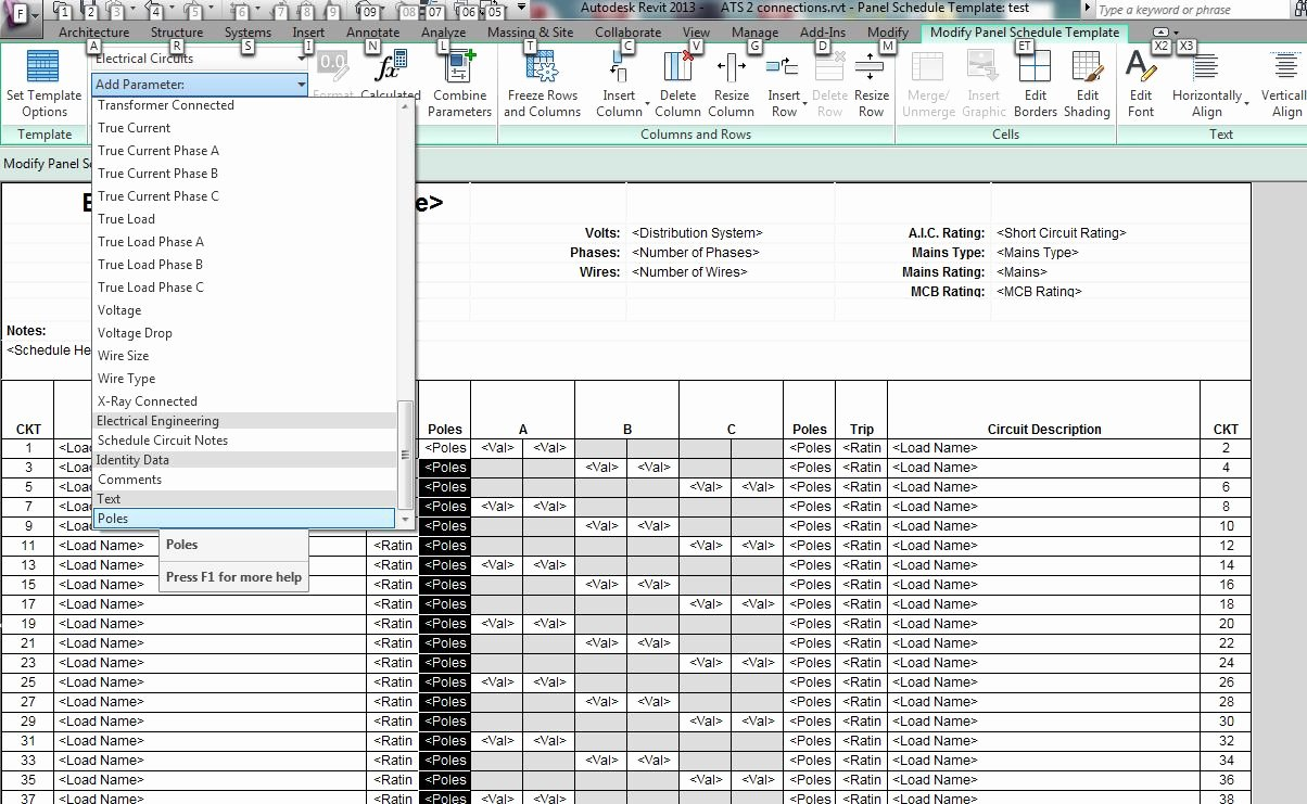 Electrical Panel Schedule Template Excel Best Of Revit Mep 2013 is It Possible to Undock Panel Schedules