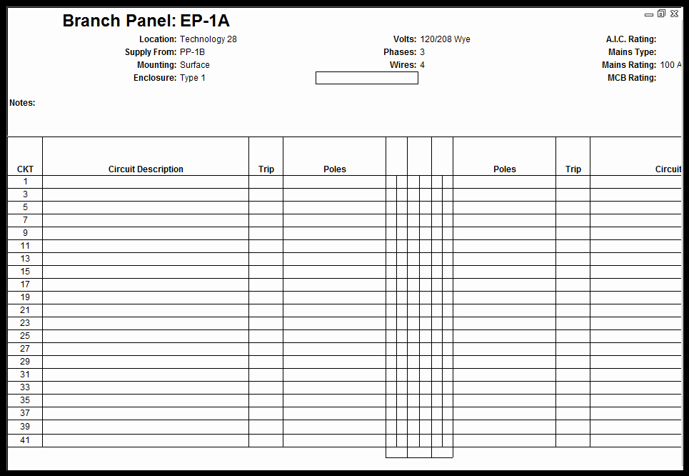 Electrical Panel Schedule Template Lovely Customize Revit Electrical Panel Schedule Template