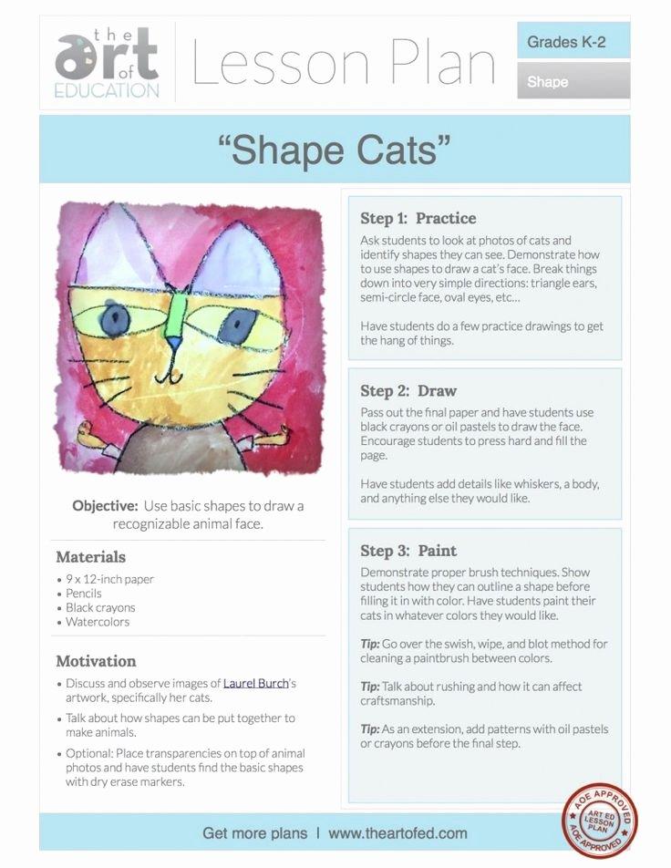 Elementary Art Lesson Plan Template Fresh 1539 Best Art Lessons K 5th Images On Pinterest