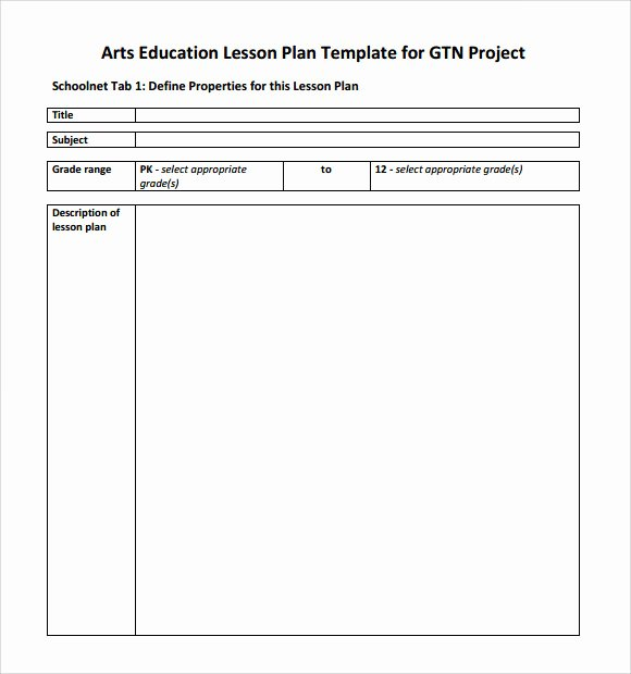 Elementary Art Lesson Plan Template Lovely Sample Art Lesson Plan 8 Documents In Pdf Word