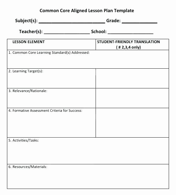 Elementary Music Lesson Plan Template Beautiful Mon Core Music Lesson Plan Template – top Kindergarten