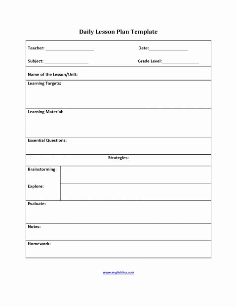 Elementary Music Lesson Plan Template Luxury 017 Elementary Lesson Plan Tinypetition