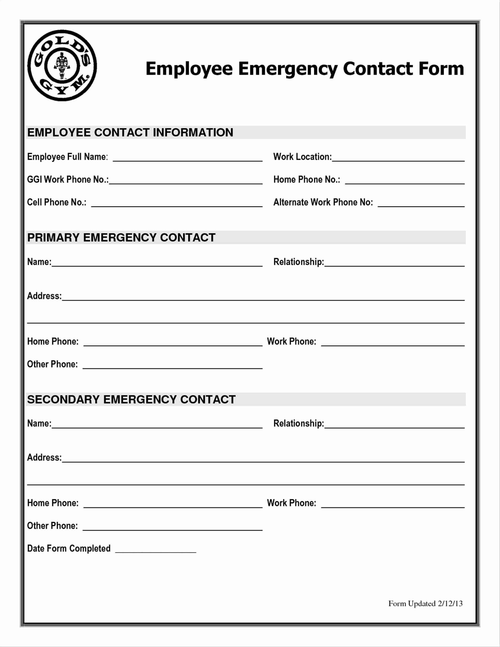 Emergency Contact form Template Word Inspirational Student Enquiry form Template Sampletemplatez