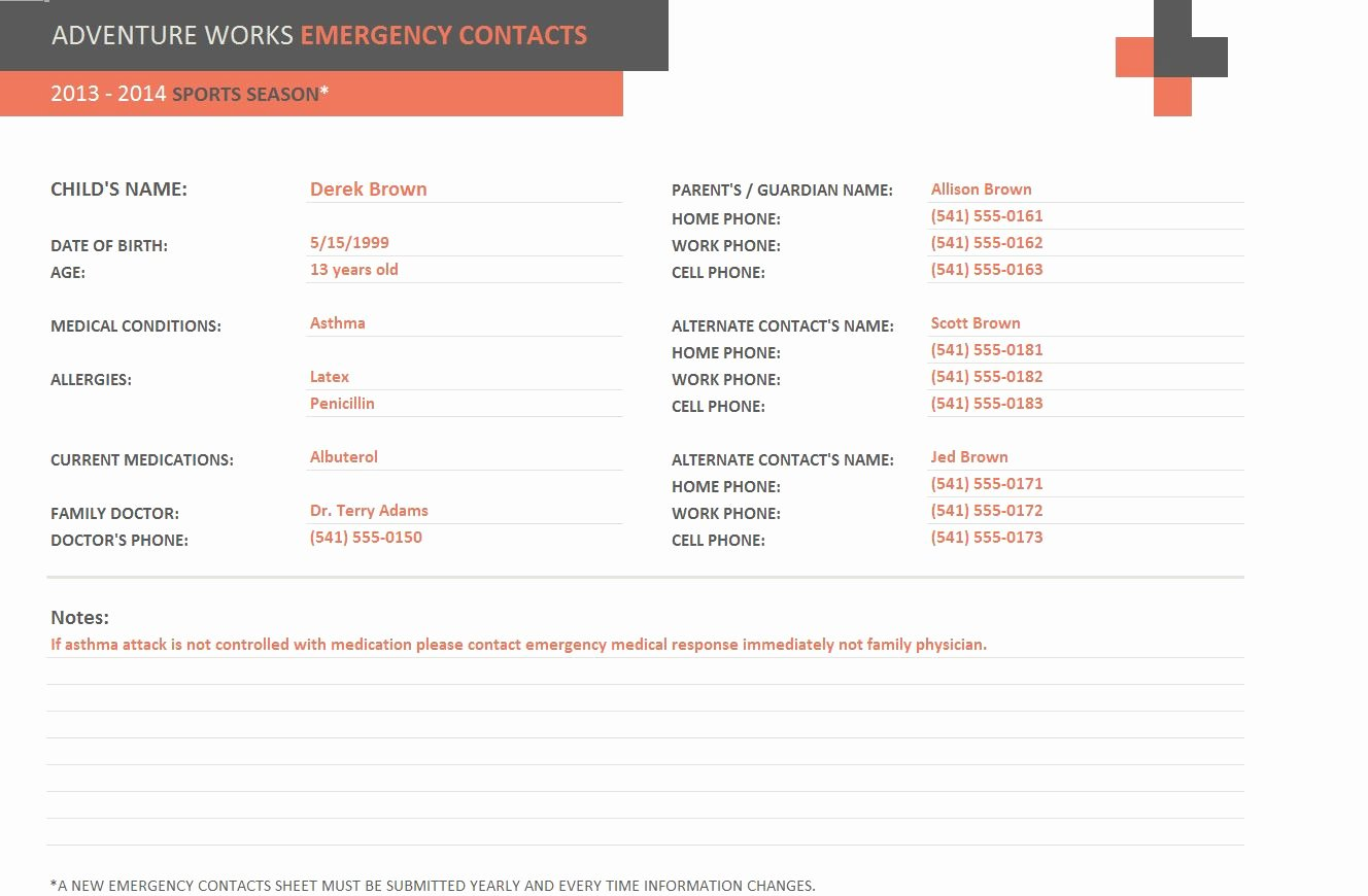 Emergency Contact form Template Word Lovely Avery Business Card Templates for Word