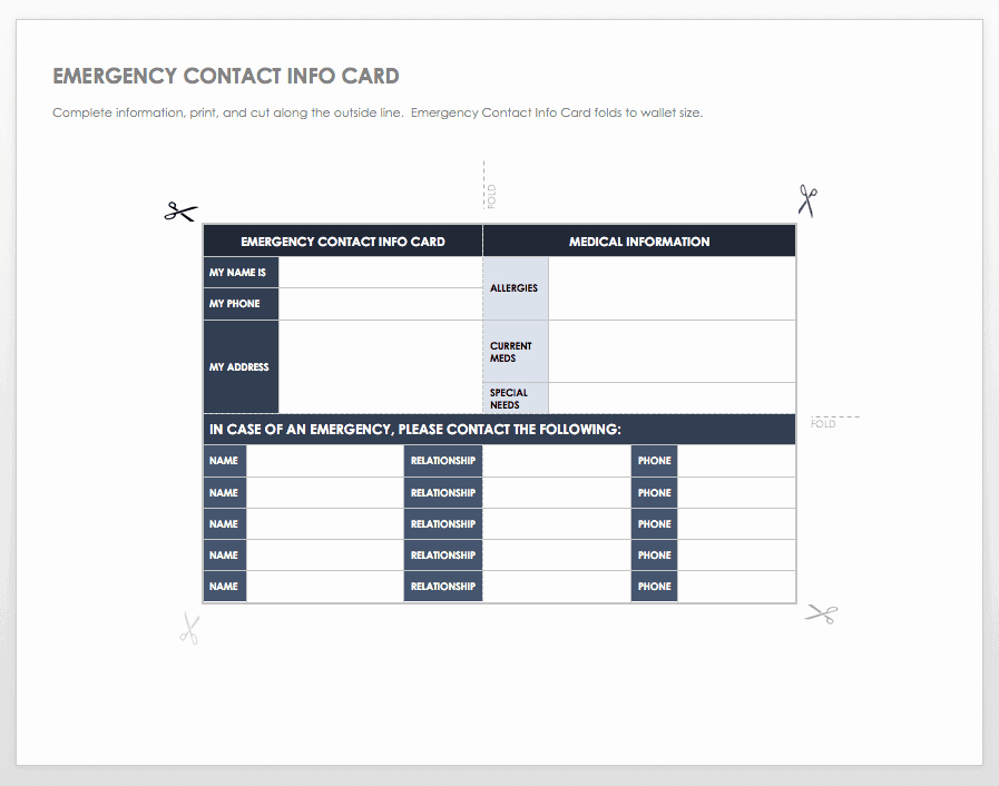 Emergency Contact form Template Word Unique Free Contact List Templates