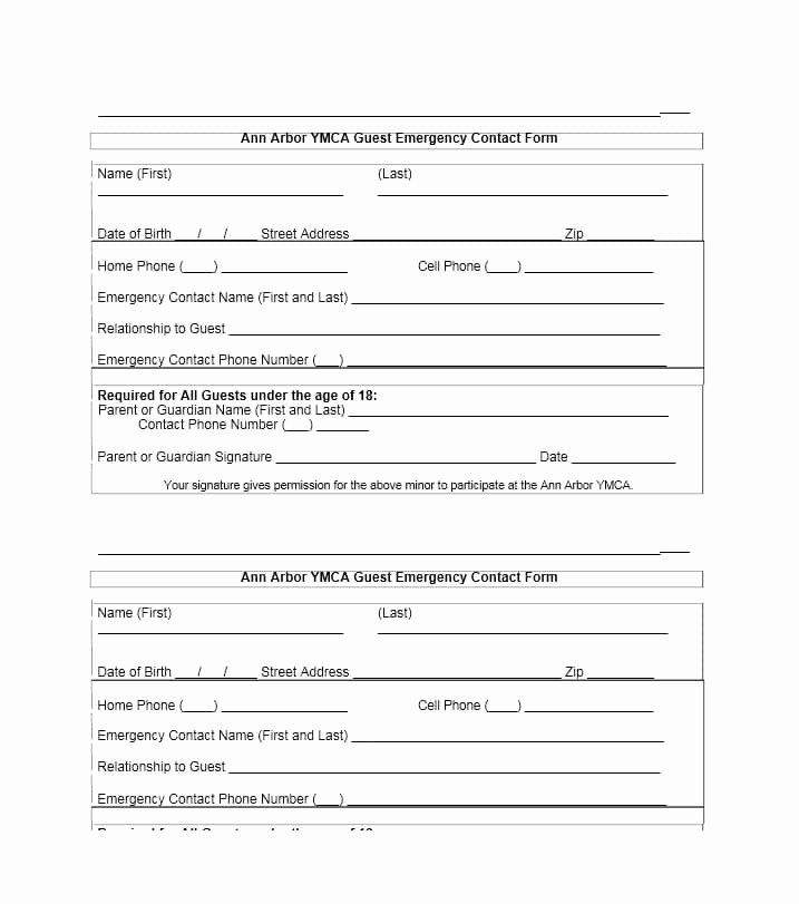 Emergency Contacts form Templates Fresh 54 Free Emergency Contact forms [employee Student]