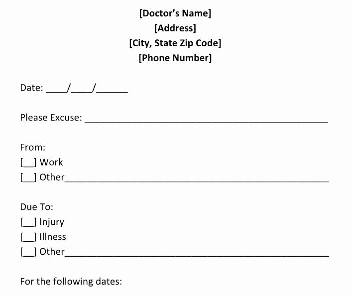 Emergency Room Doctor Note Template New 25 Free Doctor Note Excuse Templates Template Lab