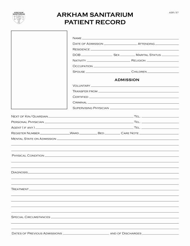 Emergency Room Excuse Template Inspirational Emergency Room Discharge Papers Template