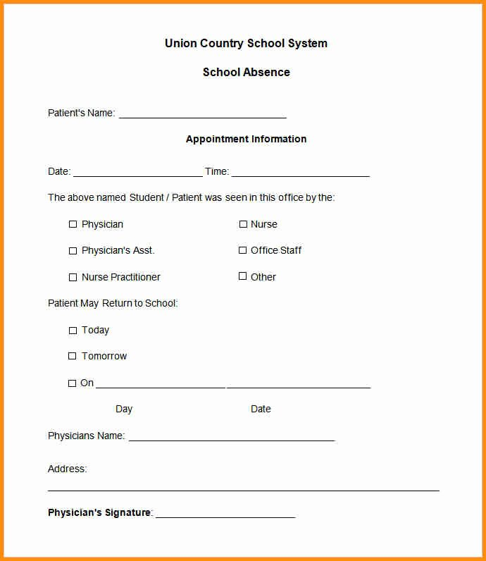 Emergency Room Excuse Template New Urgent Care Doctors Note Template