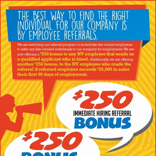 Employee Bonus Plan Template Best Of Employee Referral Program Flyer