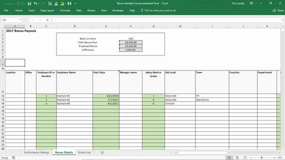 Employee Bonus Plan Template Inspirational Employee Bonus Excel Template Incentive Plan Calculation